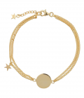 Double Chain Star MUM Bracelet Goldplated