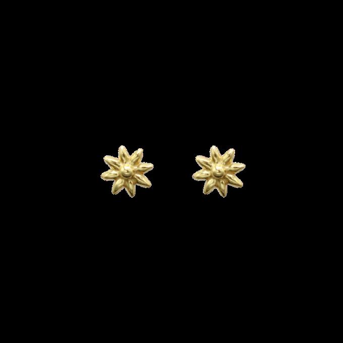 Daisy Pin Pair Of Earrings Goldplated