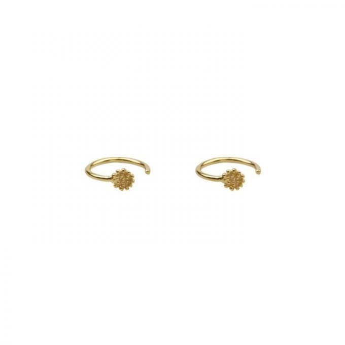 Dotted Round Earring Goldplated