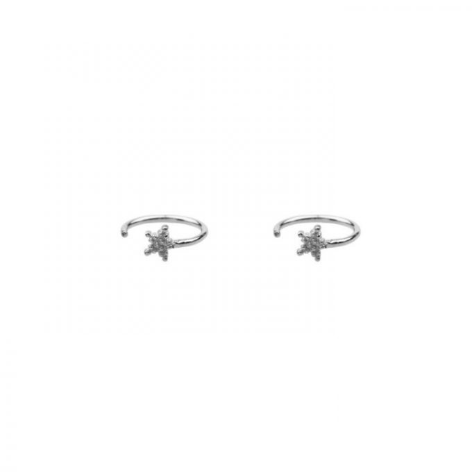 Dotted Star Earring Silver