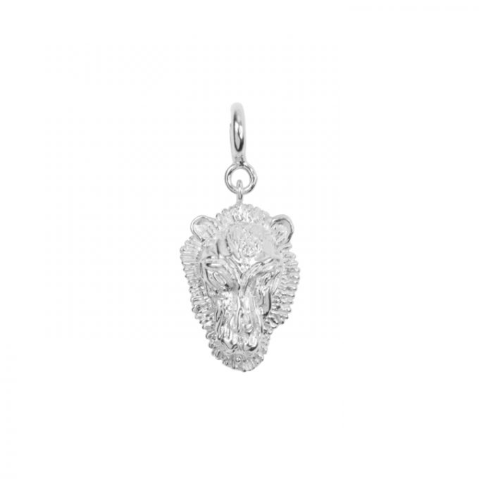Lion Bead Silver