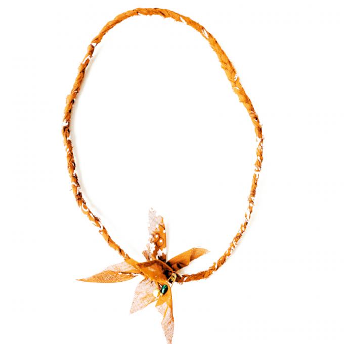 Saturdays & Sundays Vintage Necklace - Light Orange