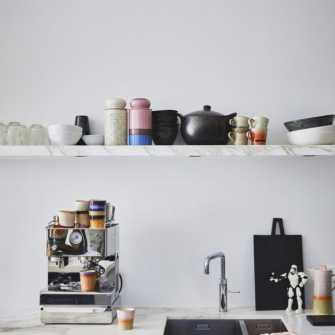 Ceramic 70's Americano Mugs Set of 4