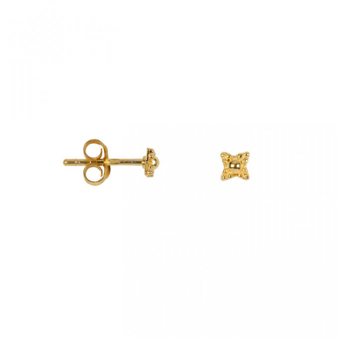 Antique Dotted Stud Goldplated