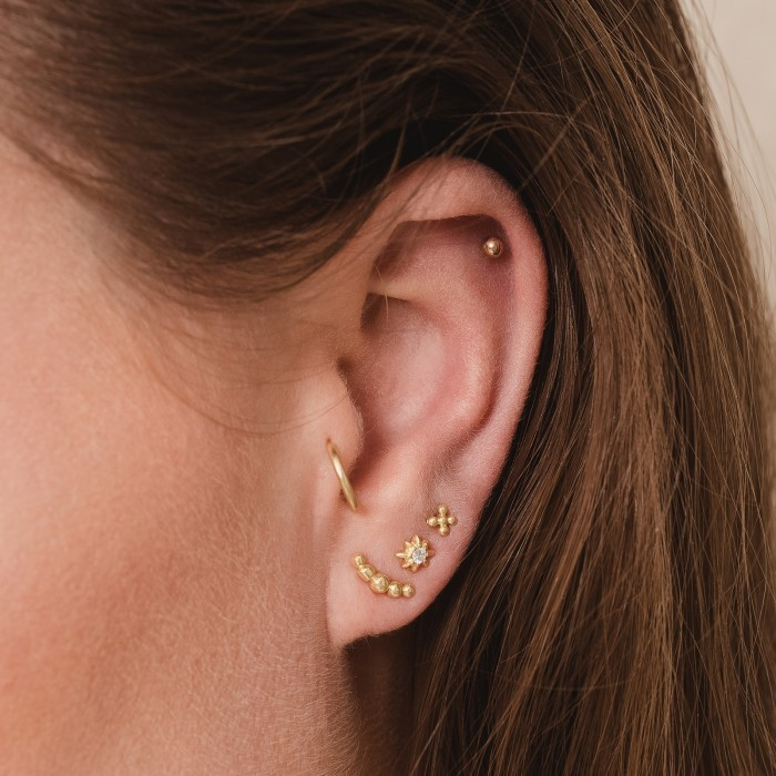 Earcandy Croissant Goldplated