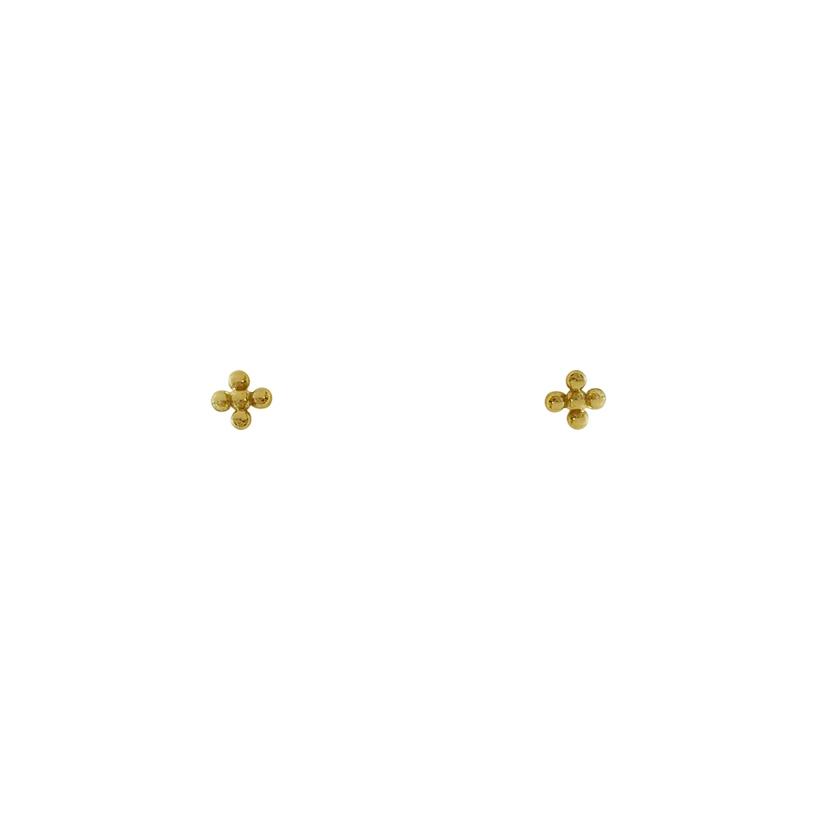 Flower Dots Goldplated