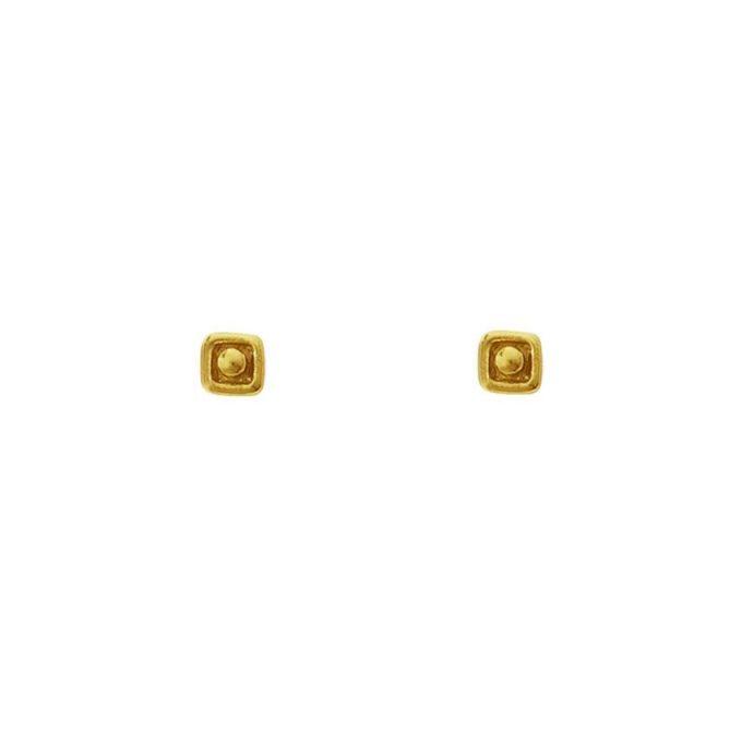 Vierkant Dot Goldplated