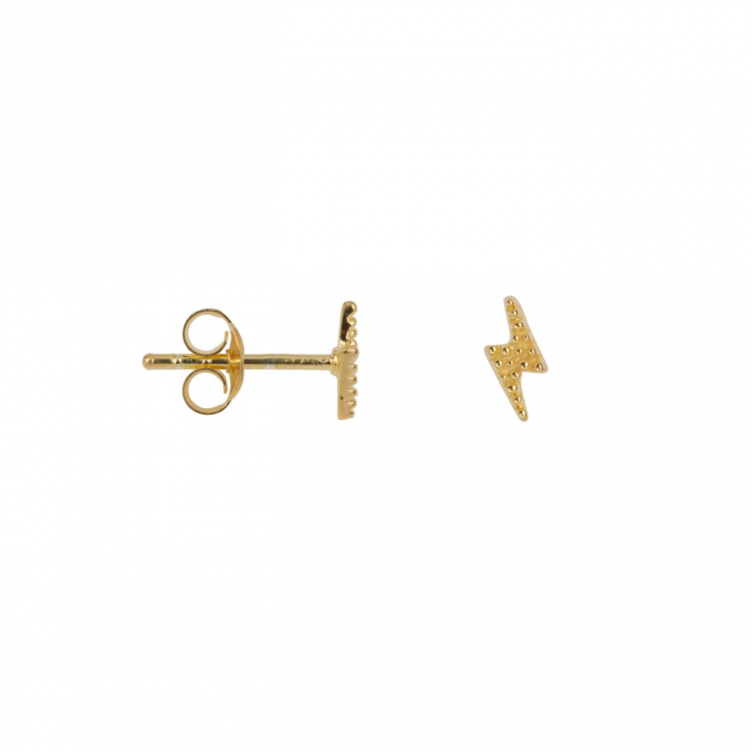 Dotted Symmetric Flash Stud Earring Goldplated