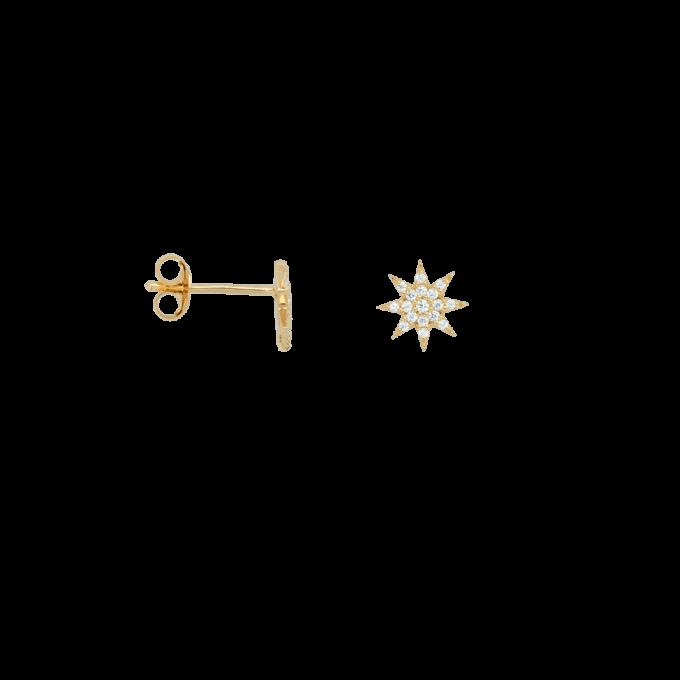 Single Nova Stud White Goldplated