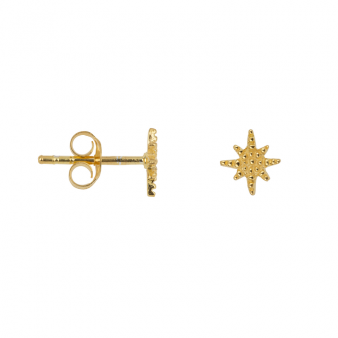 Flashing Star Studs Goldplated