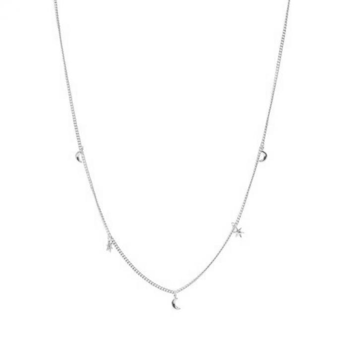Tiny Moon & stars necklace