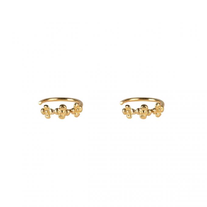 Mini Flowers Earrings Goldplated