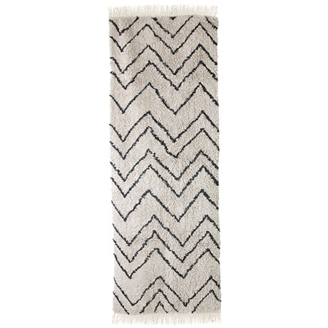 Cotton Zigzag Runner (75x220)