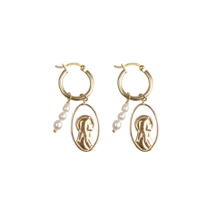 Maria Pearl Earrings Goldplated