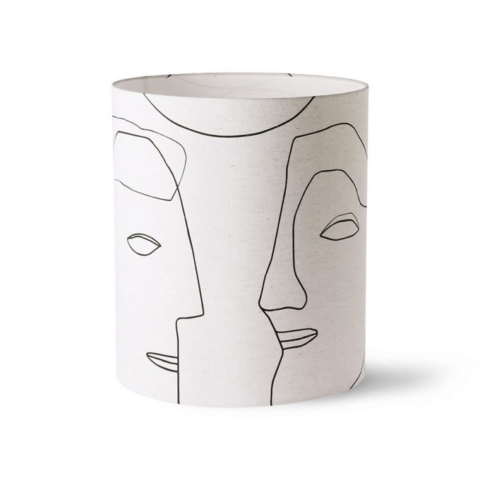 Printed Faces Lampshade