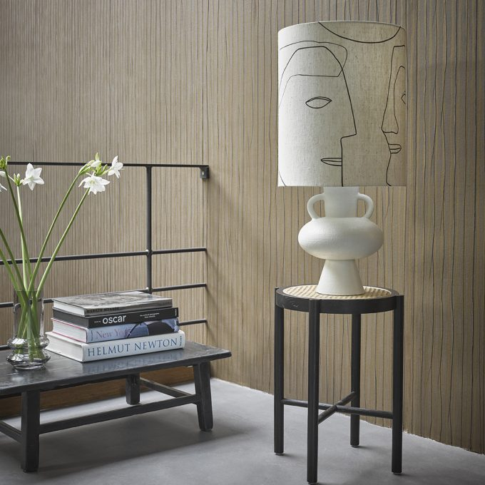 Stoneware Lamp Base White