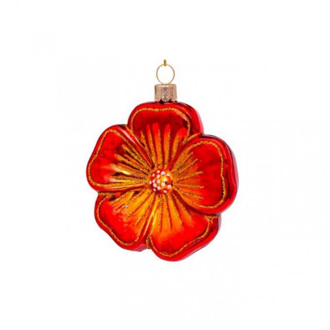 Red Flower Ornament