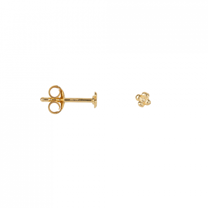Dotted Mini Flower Studs Goldplated