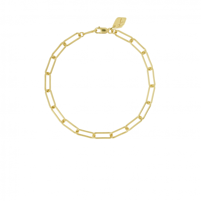 Square Chain Bracelet Goldplated