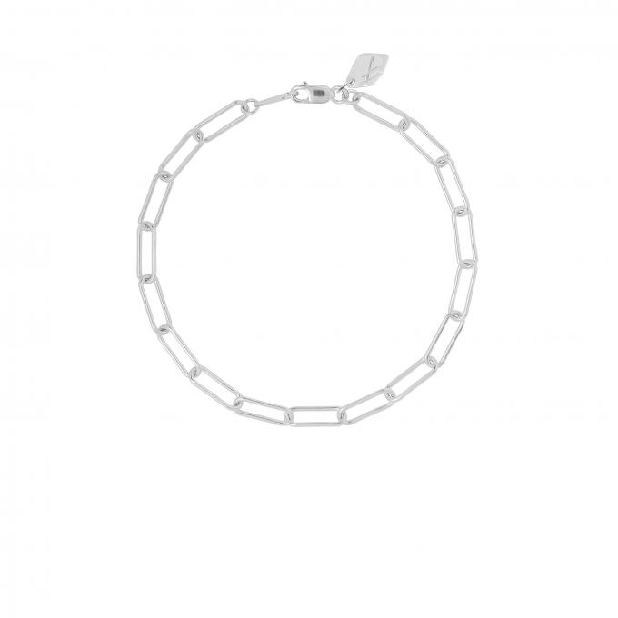 Square Chain Bracelet Silver