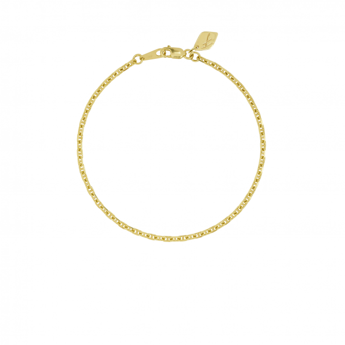 Hooked Chain Bracelet Goldplated