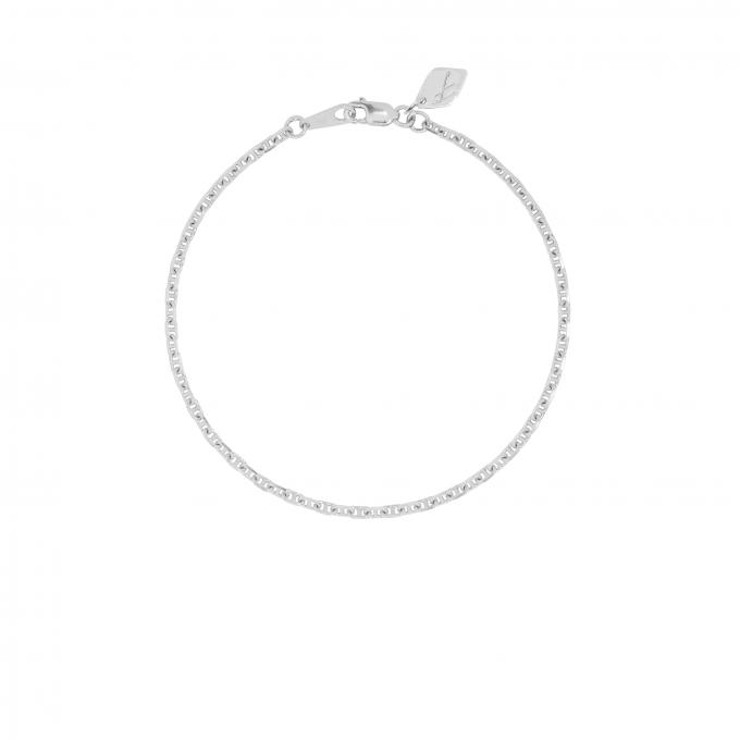 Hooked Chain Bracelet Silver
