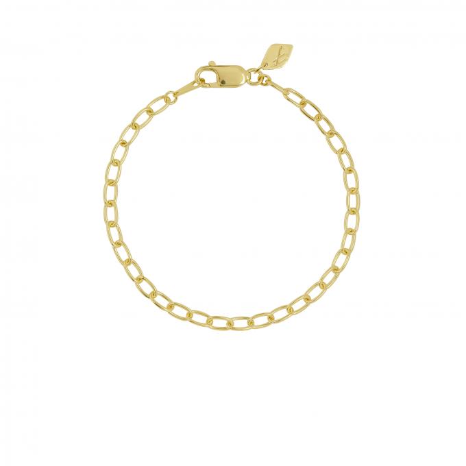 Oval Eye Bracelet Goldplated