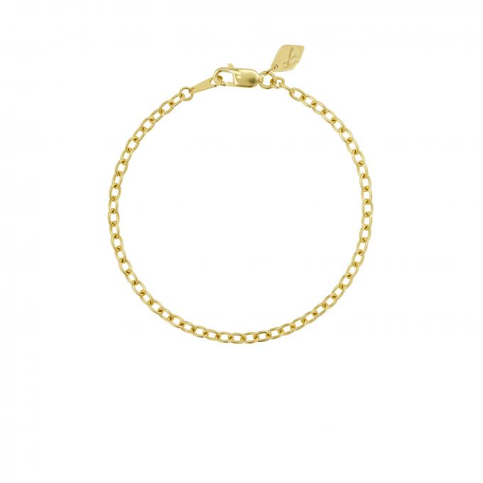Round Link Bracelet Goldplated