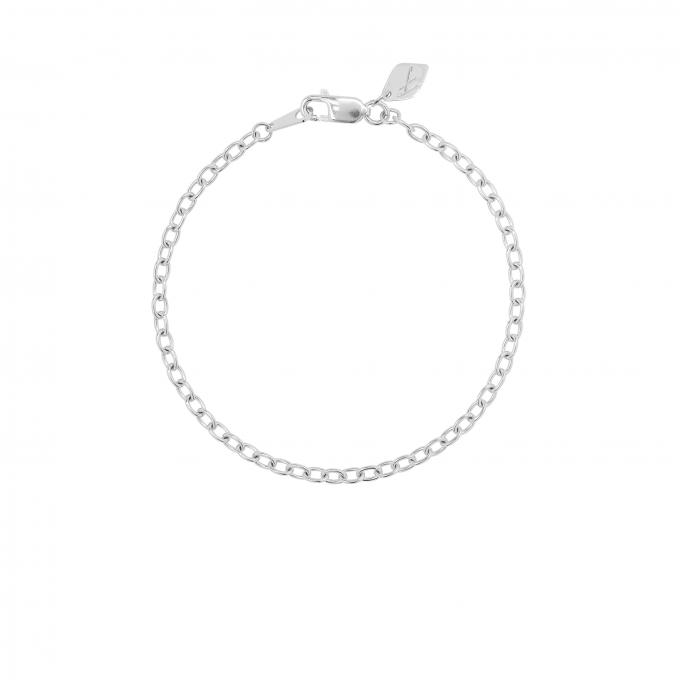 Rounded Link Bracelet Silver