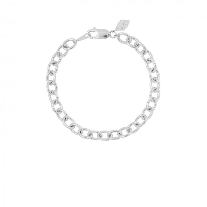 Statement Link Bracelet Silver