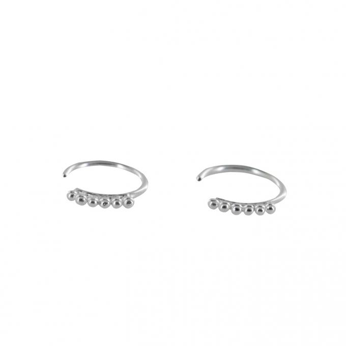 Dotted Ring Earring Silver