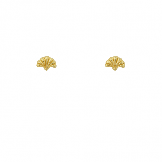 Ancient Fan Studs Goldplated