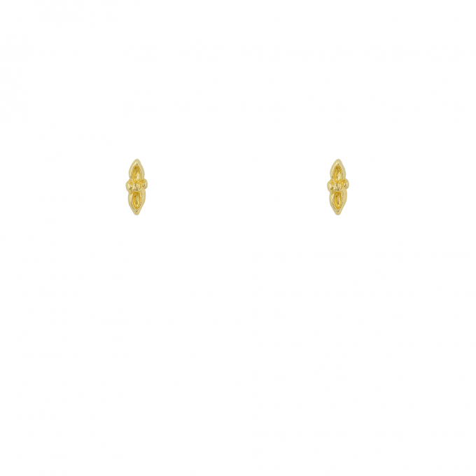 In The Eye Of The Beholder Studs Goldplated