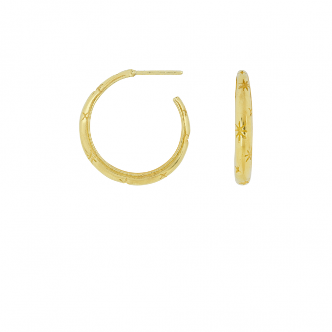 Starry Night Hoops Goldplated