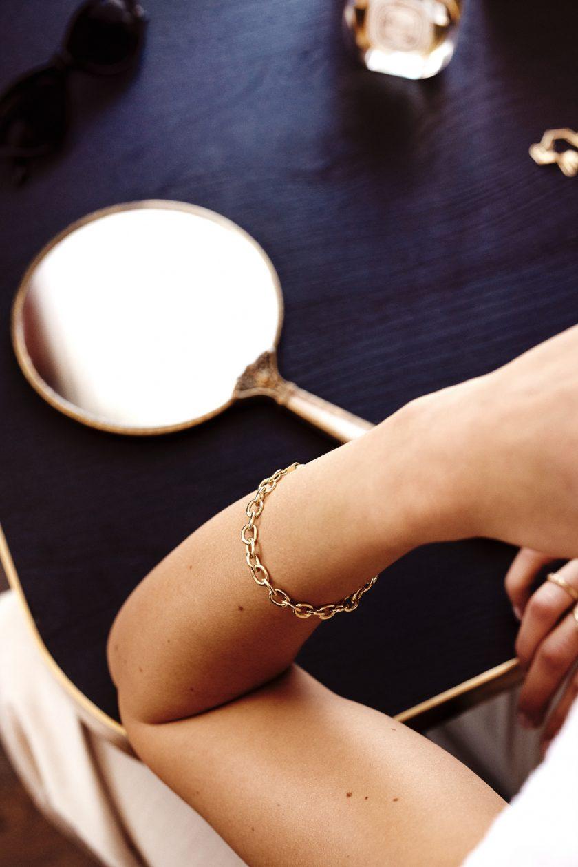 Statement Link Bracelet Goldplated