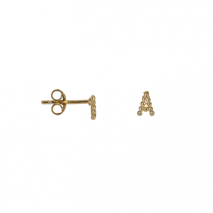 Letter Stud Alphabeth Gold Plated