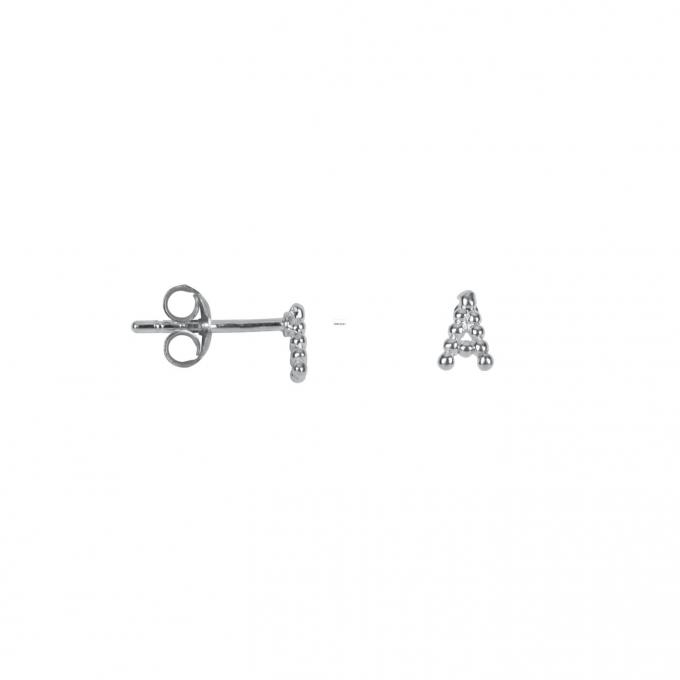Letter Stud Alphabeth Silver