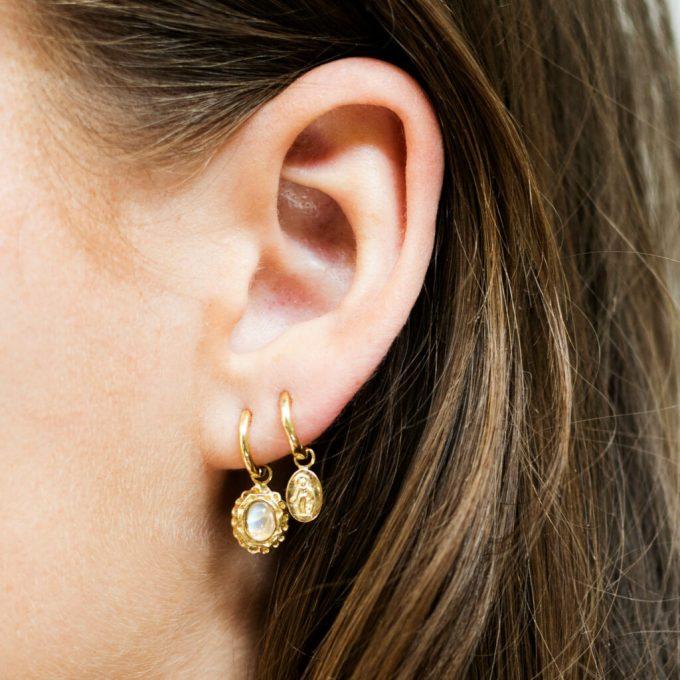 Mini Maria Small Hoop Earring Silver