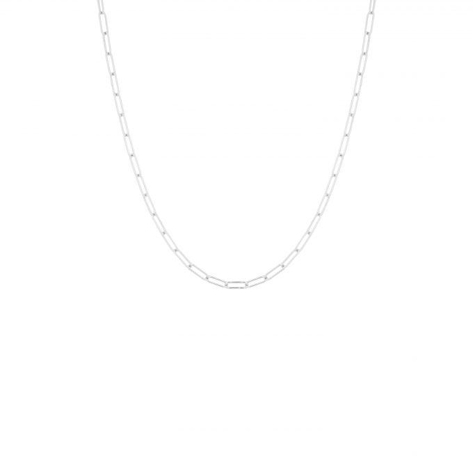 Square Chain Necklace Silver