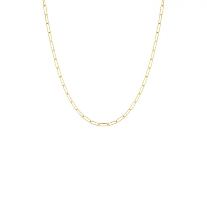 Square Chain Necklace Goldplated