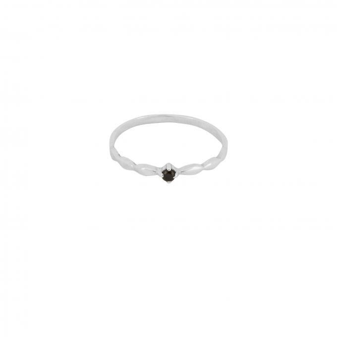 Keepsake Ring Onyx Silver