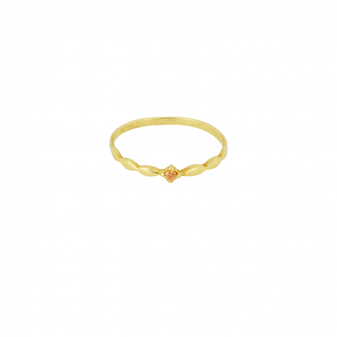 Keepsake Ring Champagne Goldplated