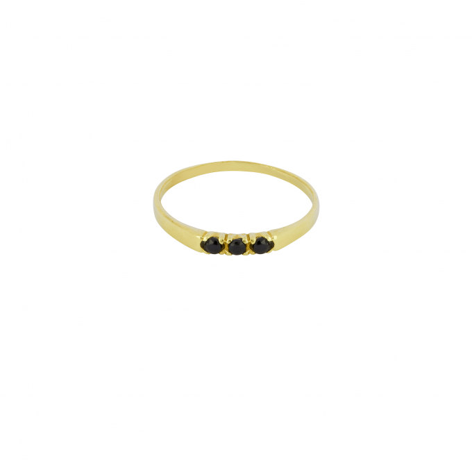 Dreamland Ring Onyx Goldplated