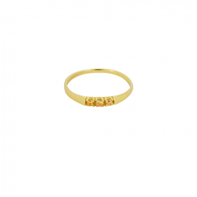 Dreamland Ring Champagne Goldplated