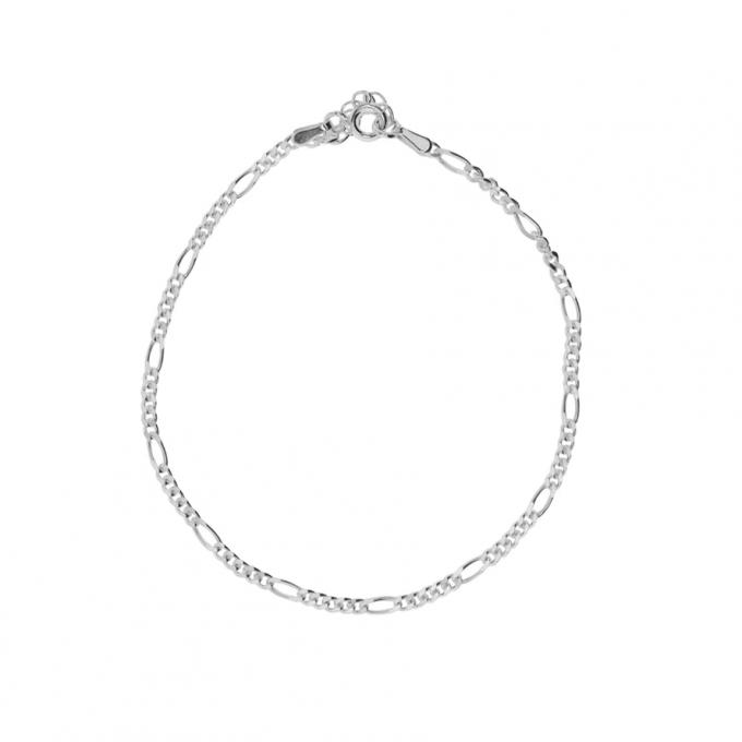 Figaro Bracelet - Silver