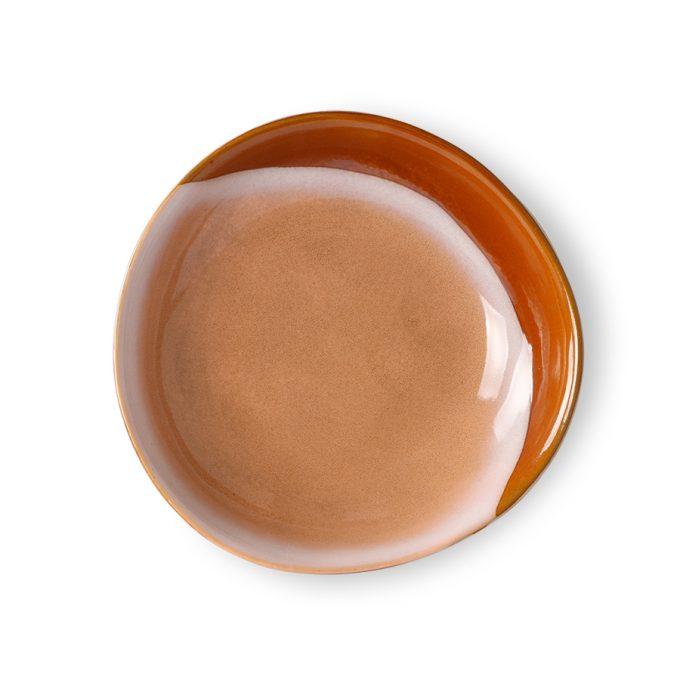 Ceramic 70's Curry Bowls: Hills Set of 2