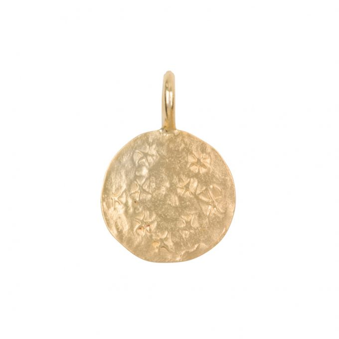 charm coin stars Goldplated
