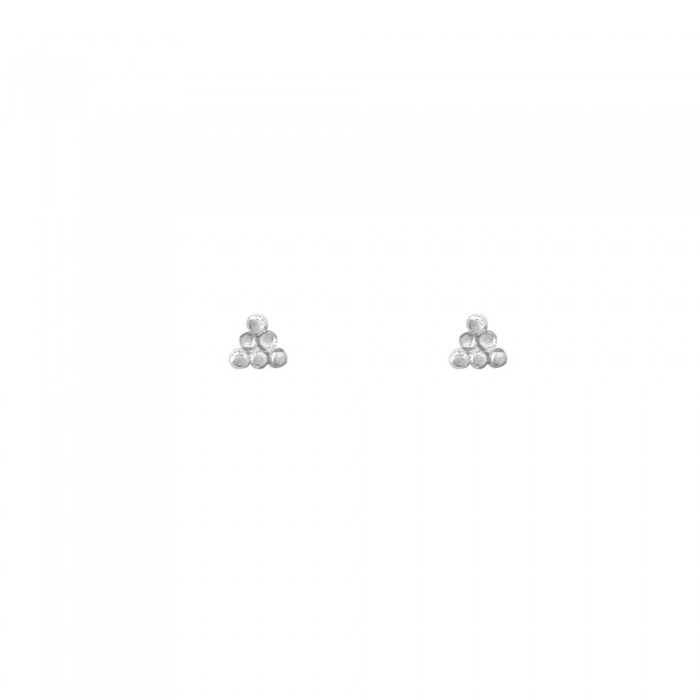 Triangle Dots Silver