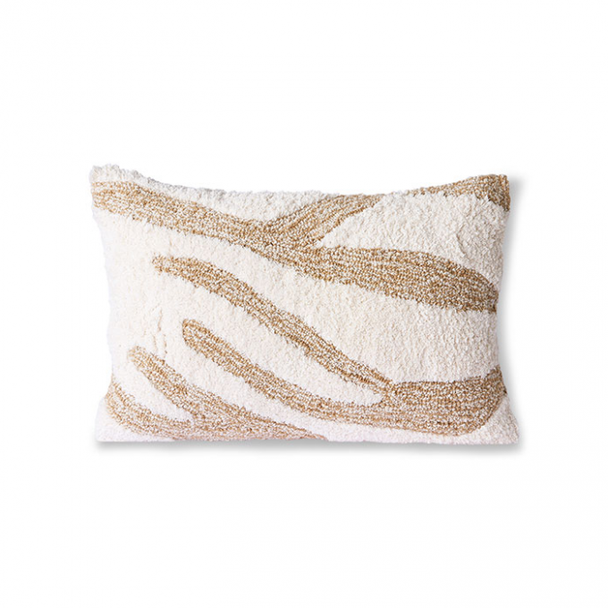 Fluffy Cushion White/Beige