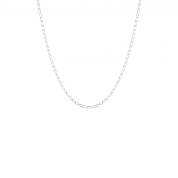 Oval Link Necklace Silver